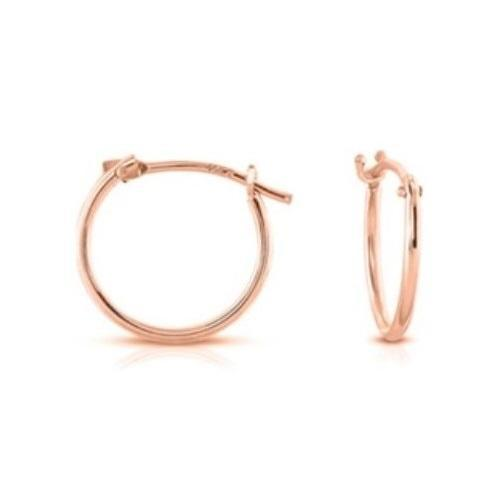 Solid 14k Rose Gold 12mm French Hoops - Kwikibuy.com™® Official Site