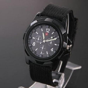 🍀 Military Canvas Belt Luminous Quartz Wrist Watch (4 Colors)  - Kwikibuy Amazon Global