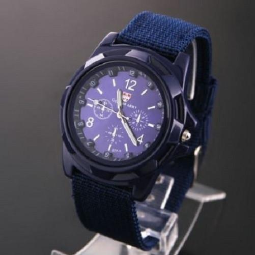 Military Canvas Belt Luminous Quartz Wrist Watch $24.99 Blue - Kwikibuy.com™®