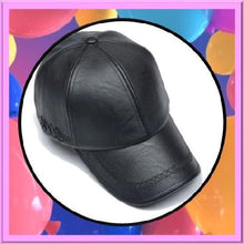 Load image into Gallery viewer, Leather-Snapback-Baseball-Black-Caps  - Kwikibuy Amazon Global