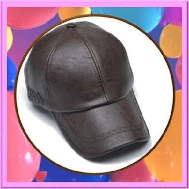 Leather-Snapback-Baseball-Dark-Brown-Caps  - Kwikibuy Amazon Global