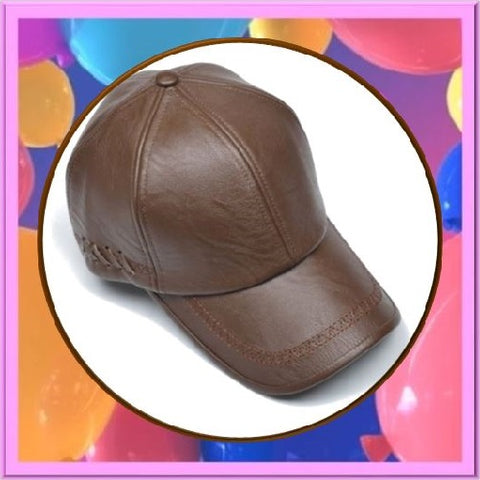 Leather-Snapback-Baseball-Light-Brown-Caps  - Kwikibuy Amazon Global