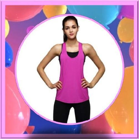 Quick-Dry-Loose-Fitness-Tank-Tops-Hot-Pink-Buy-One-Get-Two  - Kwikibuy Amazon Global