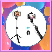 Load image into Gallery viewer, Bluetooth-Selfie-Stick-and-Tripod-with-Remote-Black-Buy-One-Get-Two  - Kwikibuy Amazon Global