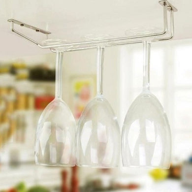 Stainless Steel Hanging Glass Stemware Row Rack (3 Sizes)  - Kwikibuy Amazon Global