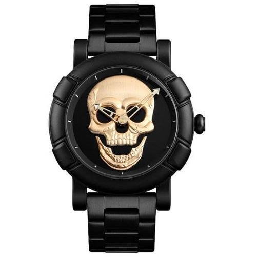 Stainless Steel Skull Watch (Gold) | Kwikibuy Amazon | United States