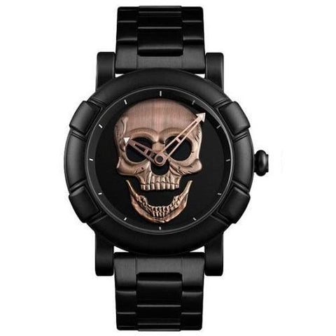 Stainless Steel Skull Watch (Red Patina) | Kwikibuy Amazon | United States