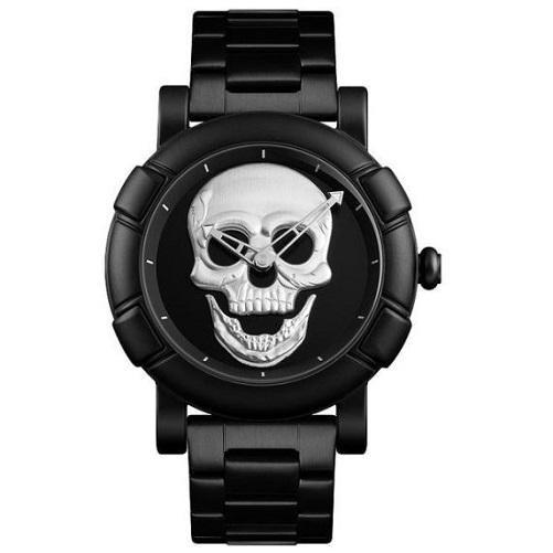 Stainless Steel Skull Watch (Silver) | Kwikibuy Amazon | United States