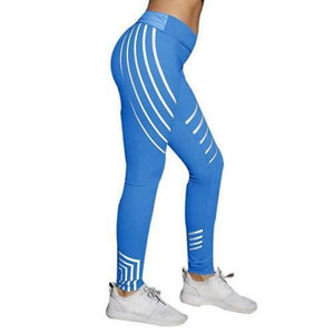 Stripe-Print-Leggings-Silver-and-Blue-Buy-One-Get-Two  - Kwikibuy Amazon Global