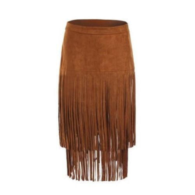 🍀 Suede Fringe Skirt (3 Sizes), Vest or Satchel  - Kwikibuy Amazon Global