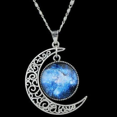 Sweet Delicate Moon Round Pendant and Necklace  - Kwikibuy Amazon Global