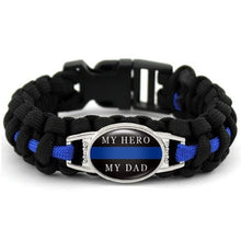 Load image into Gallery viewer, Police K-9  - Thin Blue Line Cobra Weave Para-cord Bracelets  - Kwikibuy Amazon Global