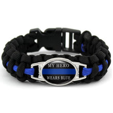 Load image into Gallery viewer, Police Grandma  - Thin Blue Line Cobra Weave Para-cord Bracelets  - Kwikibuy Amazon Global