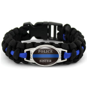Police K-9  - Thin Blue Line Cobra Weave Para-cord Bracelets  - Kwikibuy Amazon Global