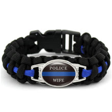 Load image into Gallery viewer, Police Aunt  - Thin Blue Line Cobra Weave Para-cord Bracelets  - Kwikibuy Amazon Global