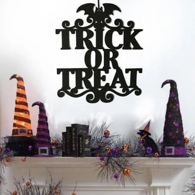 🎃 Halloween Hanging Signs (Trick Or Treat)  - Kwikibuy Amazon Global Online S Hopping Mall Color: As shown in pictures Material: Non-woven Fabrics