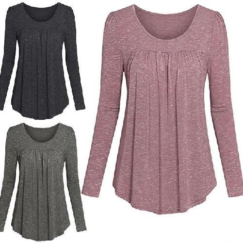 Tunic-Pleated-Top-All-3-Colors  - Kwikibuy Amazon Global