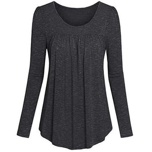 Tunic-Pleated-Top-Dark-Grey  - Kwikibuy Amazon Global