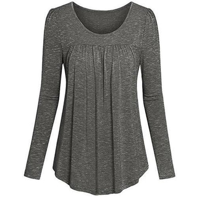 Tunic-Pleated-Top-Grey  - Kwikibuy Amazon Global