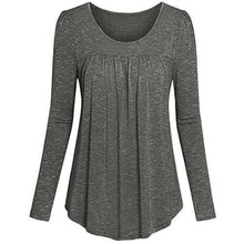 Load image into Gallery viewer, Tunic-Pleated-Top-Dark-Grey  - Kwikibuy Amazon Global