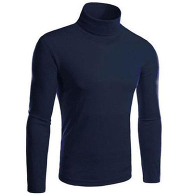 Turtle Neck Pullover Sweater (Navy Blue)  - Kwikibuy Amazon Global