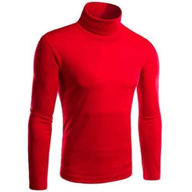Turtle Neck Pullover Sweater (Red)  - Kwikibuy Amazon Global