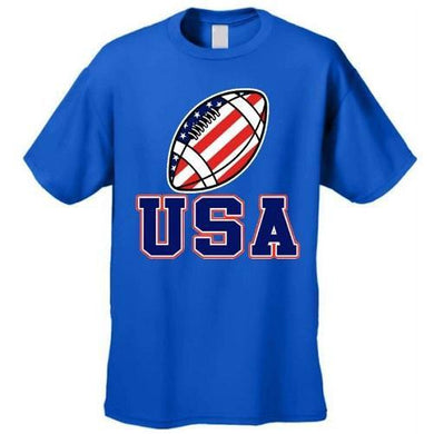 USA Football Flag T Shirt (Royal Blue)  - Kwikibuy Amazon Global
