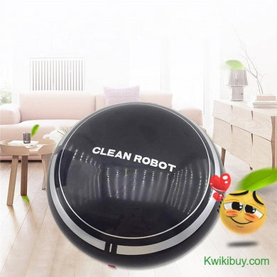 👻 USB Chargeable Robot Vacuum Cleaner (2 Colors)  - Kwikibuy Amazon Global Online S Hopping Mall Wireless: Robot Vacuum Cleaning Route: Random Dust Storage: