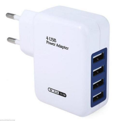 USB 4 Ports Wall Charger EU $7.01- God Degree Clothing And Accessories™® - GD's™®