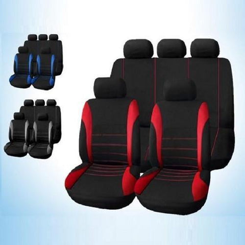 Universal Car Seat Cover 9 Piece Set Full Seat Covers for Crossovers & Sedans - God Degree Clothing And Accessories