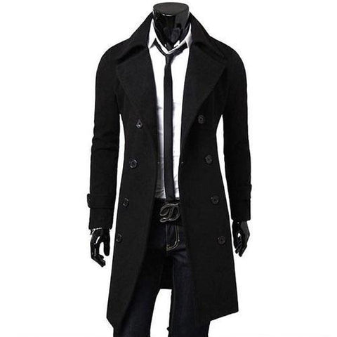 Wool Blend Trench Coats (Black) Kwikibuy Amazon Global | Men | Wool | Coat | Outerwear