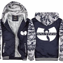 Load image into Gallery viewer, Wu-Tang-Camouflage-Thick-Fleece-Hoodie-Army-Green  - Kwikibuy Amazon Global