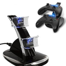 Load image into Gallery viewer, Xbox One Wireless Controller LED Charger Dock Station for 2 Controllers  - Kwikibuy Amazon Global Color: Black Change Current: 300-500mA Input Voltage: DC 5V