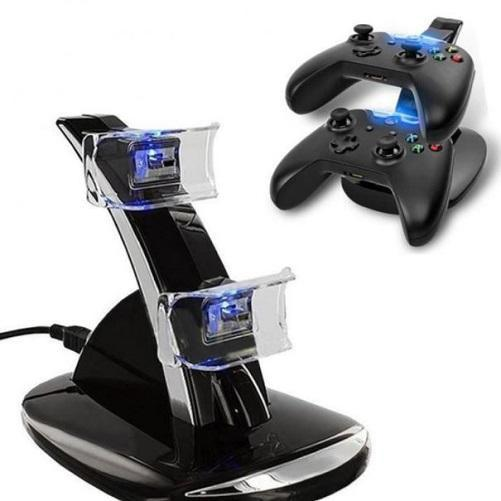 Xbox One Wireless Controller LED Charger Dock Station for 2 Controllers  - Kwikibuy Amazon Global Color: Black Change Current: 300-500mA Input Voltage: DC 5V