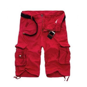 Straight-Leg-Cargo-Shorts-Red  - Kwikibuy Amazon Global