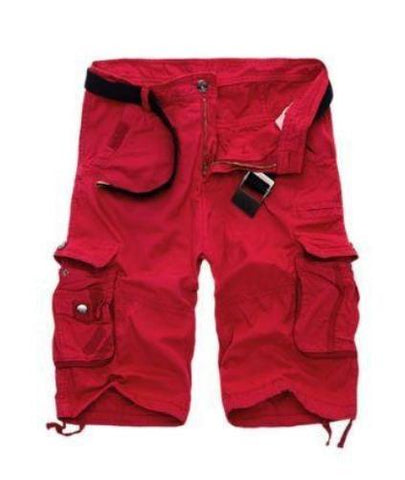 Straight Leg Cargo Shorts (Red) - Kwikibuy Amazon