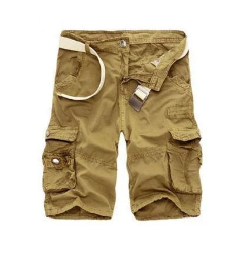 Straight Leg Cargo Shorts (Khaki)  - Kwikibuy Amazon Global