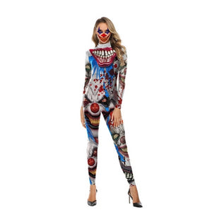 👻 Skeleton Jumpsuit  Halloween Costume (Horror Clown)  - Kwikibuy Amazon Global Online S Hopping Mall 4 Sizes (See Size Chart) 5 Styles: Rose, Yellow or Grey