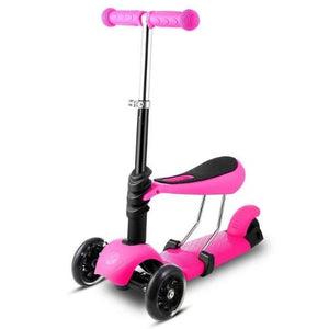 3-Wheel Grip Handheld Kick Scooter with LED Light Up Wheels (5 Colors)  - Kwikibuy Amazon Global
