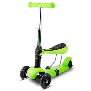 3-Wheel Grip Handheld Kick Scooter with LED Light Up Wheels (Green)  - Kwikibuy Amazon Global