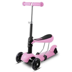 3-Wheel Grip Handheld Kick Scooter with LED Light Up Wheels (Purple)  - Kwikibuy Amazon Global