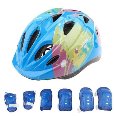 Protective Gear (3 Colors *7) Pc. Sports Set - Kwikibuy Amazon Global Ages: 5 - 15 years old 7 Pieces: Protective helmet, elbow, knee and wrist pad set