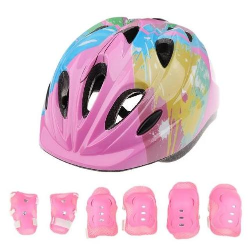 Kids 7 Piece Protective Gear Sports Set (Pink)  - Kwikibuy Amazon Global
