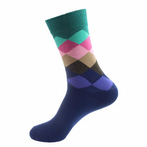 5-Pairs-Solid-Color-Cotton-Classical-Business-Socks  - Kwikibuy Amazon Global
