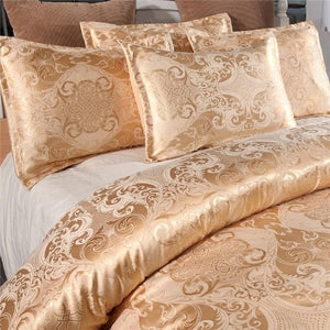 Jacquard Duvet Cover Set (8 Colors - 9 Sizes)  - Kwikibuy Amazon Global 3 Sizes: Full Queen King Color Satin Grey Material: Ultimate premium breathable