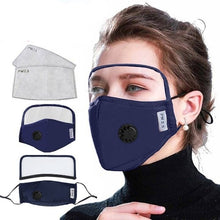 Load image into Gallery viewer, 5 Reusable Filter Mask with Detachable Eyes Shield (6 Colors) - Kwikibuy Amazon Global Material: Polyester (Soft comfortable breathable quick drying) Protection