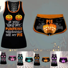 Load image into Gallery viewer, Pumpkin Pie Short Set (8 Sizes - 4 Colors) - Kwikibuy Amazon Global Online S Hopping Mall Ages 16-28 Material: Polyester 8 Sizes: Small to 5X- Large 4 Colors