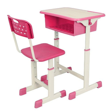 Student Adjustable Desk and Chair Set (2 Colors)  - Kwikibuy Amazon Global UPS Estimated Delivery: 5 - 7 days Table Material: Density Board and Plastic Ergonomic Structure