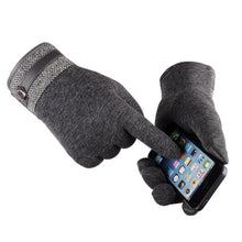 Load image into Gallery viewer, Cotton-Thermal-Touch-Screen-Gloves-Navy-Blue  - Kwikibuy Amazon Global