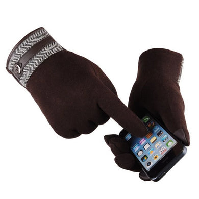 Cotton-Thermal-Touch-Screen-Gloves-Brown  - Kwikibuy Amazon Global